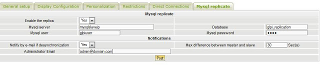 GLPI Mysql Replication Config