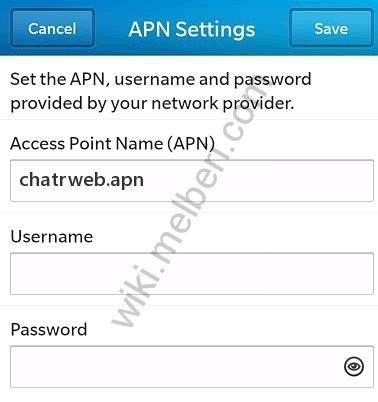 Chatr Blackberry LTE APN Settings Canada
