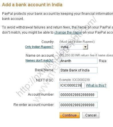 Add sbi icici hdfc axis bank account to Paypal