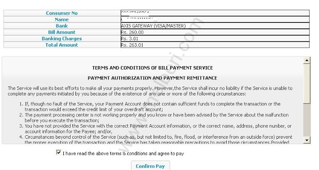 terms & conditions page