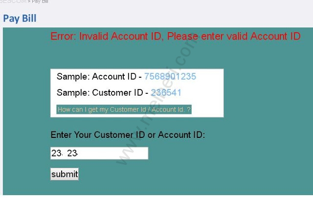 BESCOM Online Payment Portal